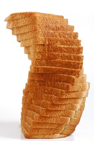 Toast bread studio isolated on white background photo