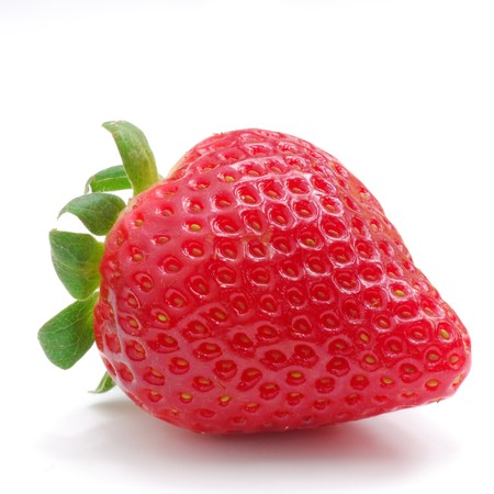 healthiness: Close image of strawberry with white background Stock Photo