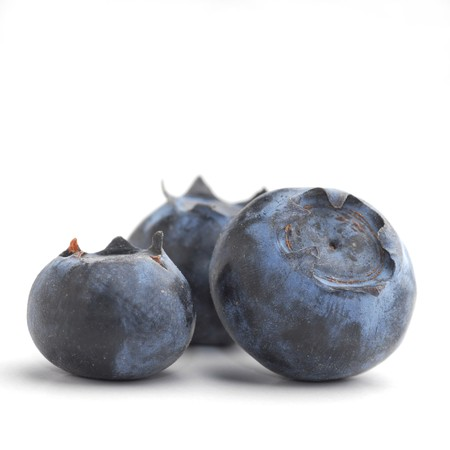 Bluberries studio isolated on white background