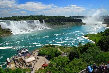 Niagara Falls, Estados Unidos y las caídas de Canadá, EE.UU., Canadá Foto de archivo - 4532905