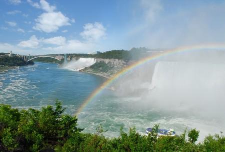 horseshoe falls: Landscape of Niagara Falls on a great summer day Stock Photo