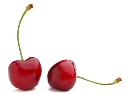 Fresh cherries studio isolated on white background Stock Photo