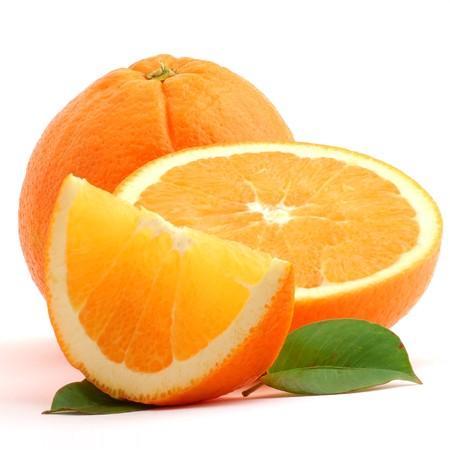 Orange studio isolated on white background