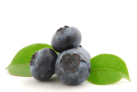 Blueberries very close studio isolated on white background Stock Photo
