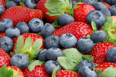 Extreme close-up image of berries with great depth of field Stock Photo
