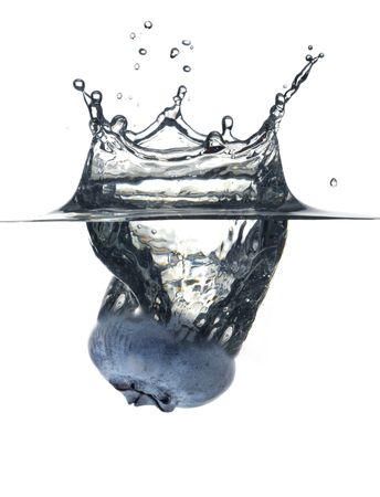 Blueberry splash studio isolated on white background photo