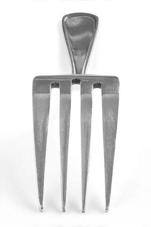 Extreme close-up image of fork Stock Photo