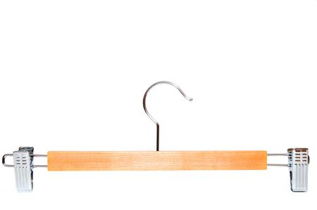 coathanger: Coat hanger isolated on white background; Close up image of coat hanger