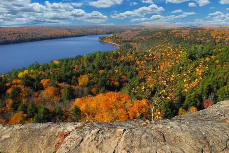 Beautiful autumn in Ontario park photo