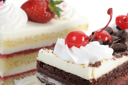 Extreme close-up image of delicious cake
