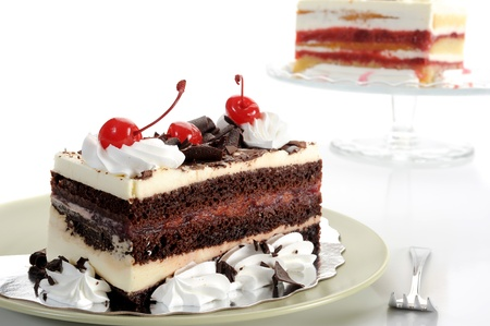 Extreme close-up image of delicious cake with cherries Stock Photo - 8324787