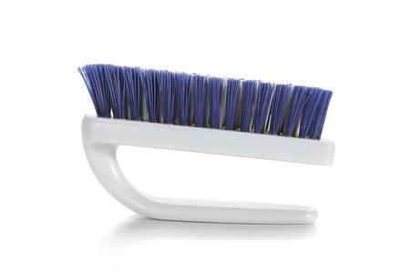 broom handle: Cleaning brush studio isolated on white background Stock Photo