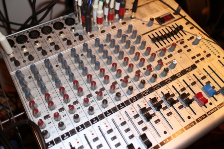 Close-up image of a Mixing Desk