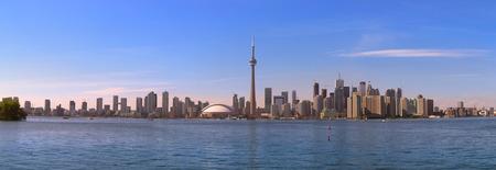 building cn tower: Toronto skyline in panorama