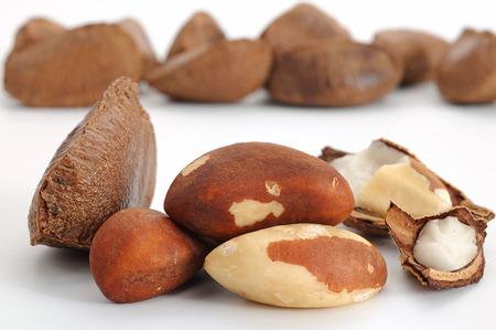 selenium: Close-up image of Brazil nut studio isolated on white background