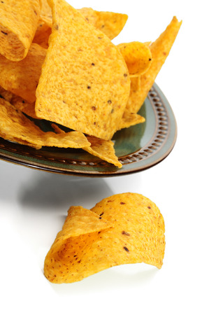 corn chips: Corn chips studio isolated on white background