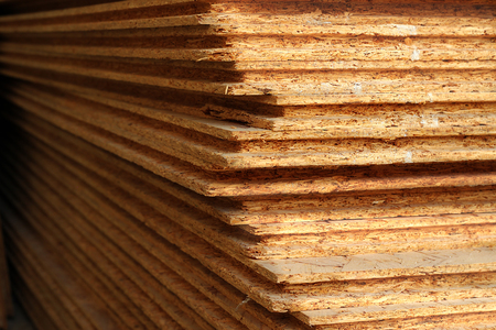 Pressed wooden osb panel