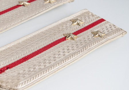 lieutenant: Parade Shoulder straps Lieutenant of russian army isolated on white background