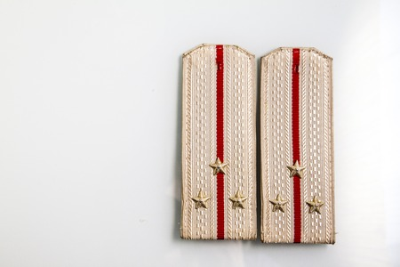 Parade Shoulder straps Lieutenant of russian army isolated on white background