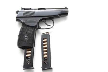 Soviet Makarov gun isolated on white background