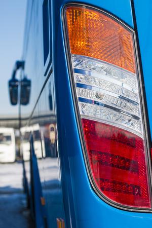 Closeup headlights . Modern car. Concept of expensive auto
