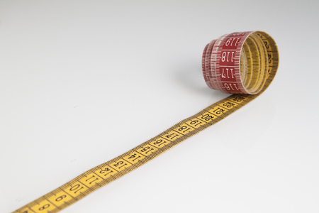 sartorial meter on white background Stock Photo
