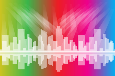 City Colorful Light vector
