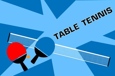 Ilustración de tenis de mesa. Foto de archivo - 88210819