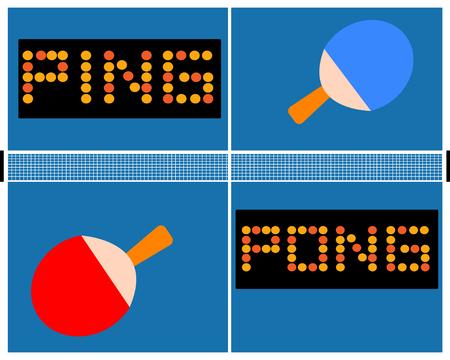Table tennis sports illustration.