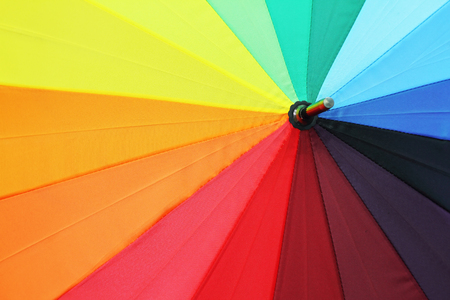 good color: this is photo  Rainbow Umbrella good color  . Stock Photo