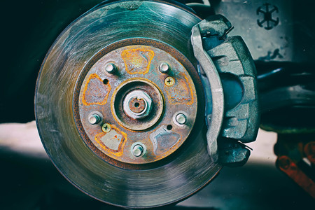 lug: Disk Brake retro effect filtered hipster style image.make blur and noise