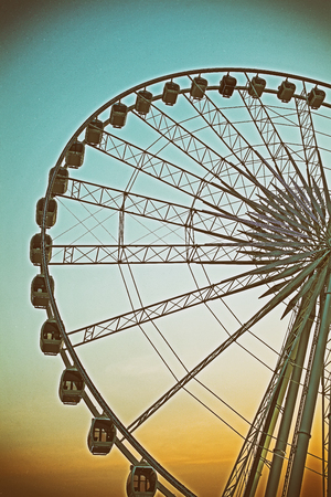 ferriswheel: Ferris wheel and retro effect filtered hipster style image Stock Photo