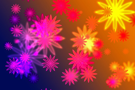 full color abstract background with flowers concept. Stock Photo