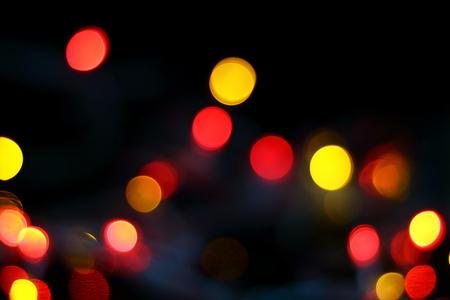 de-focused christmas lights background Stock Photo
