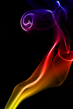 Movement of smoke full color.
