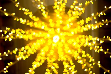 Bokeh from the light of a lamp for Christmas decoration Foto de archivo