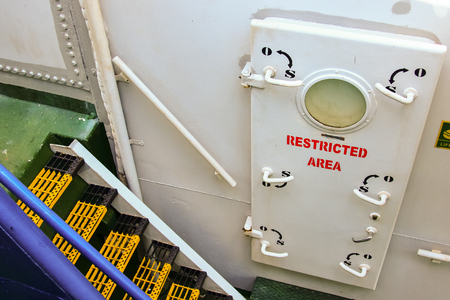 Ship restricted area behing the door