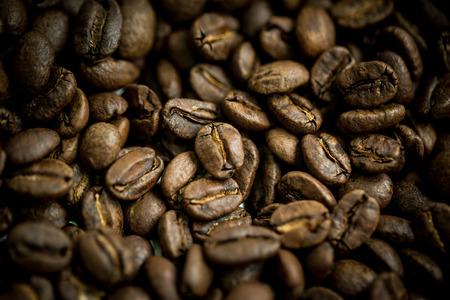 コーヒー豆中ももクローズ アップの撮影、カラー レトロ スタイル、タイ 写真素材
