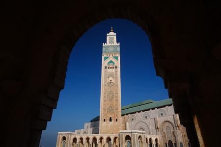 カサブランカ, モロッコの青空の中にハッサン 2 世モスク