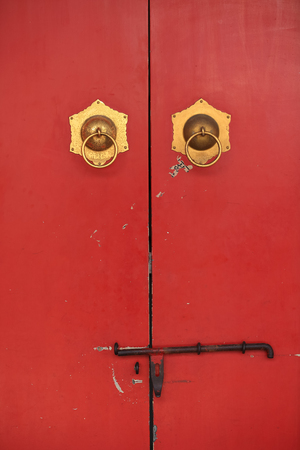 The doors at Temple of Heaven in Beijing ,the famous attraction , China