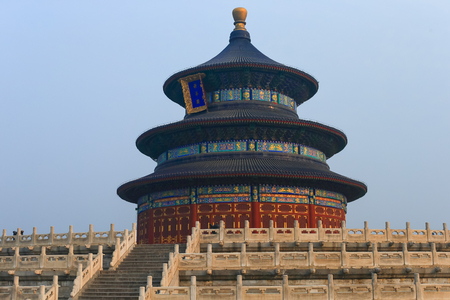 Temple of Heaven in Beijing ,the famous attraction , China Editorial