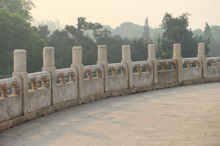 Stone balcony. Taken at the Temple of Heaven in Beijing, the famous attraction ,China.