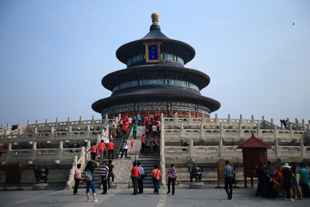 Temple of Heaven in Beijing ,the famous attraction , China 報道画像