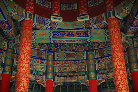 Pattern of Temple of Heaven in Beijing ,the famous attraction , China