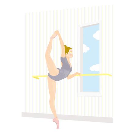 illust: ballerina Illustration