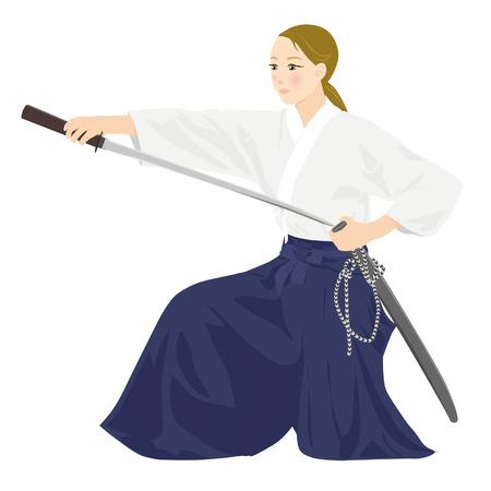 swordsman: swordsman (Japanese fencing ) Illustration