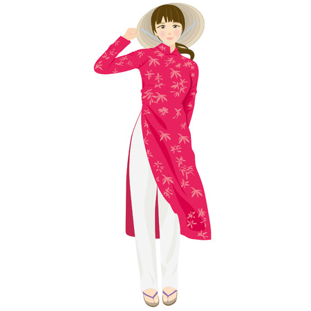 dai: Vietnamese woman wearing traditional clothes1
