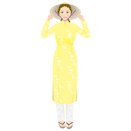 ao: Vietnamese woman wearing traditional clothes3