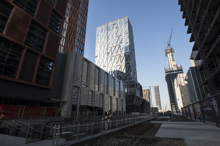 comit� d entreprise: Binhai New area of Tianjin CBD streetscape