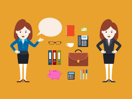 Character Businesswoman, Vector illustration